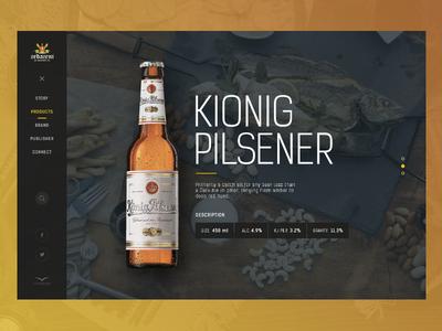 Beer bottle ui web description product kionig pilsener bottle drink beer