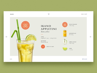 Cocktail drink ingredients recipes design drink flat cocktail wine ux ui