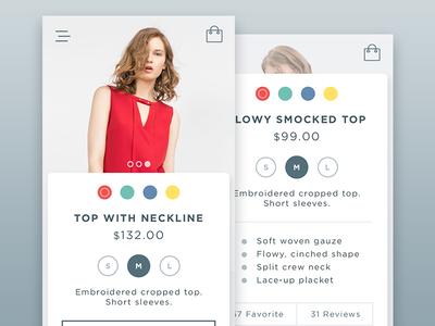 Online Shop store design app description cart e-commerce shop ux ui
