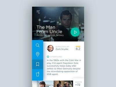 Movie Mobile description app mobile ux ui green concept movie