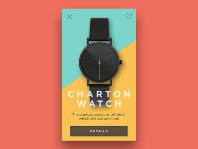 Watch concept colors card watch app concept design ui