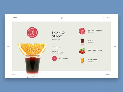Red Cocktail recipes ingredients drink cocktail wine flat design ux ui