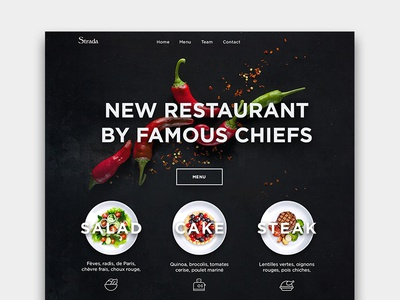 Restaurant design receipt order food cafe typography ui ux