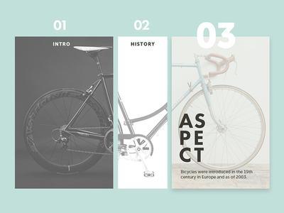 Bike History typo bicycle bike web design ux ui