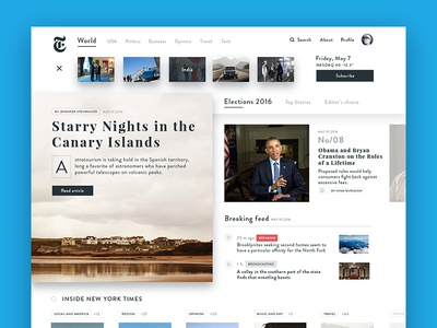 New York Times new york times concept web typography ux ui
