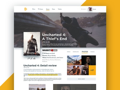 Game Profile poster profile flat concept design game web ux ui
