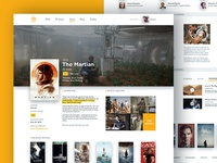 Movie Database Concept layout clean white minimal flat poster cover film database ux movie ui