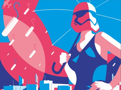 May the 4th be with you... 80s artwork pop art illustrator illustration tampon sanitary women rights women stormtrooper starwars