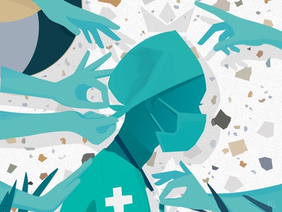 Job under pressure… 🩺 artwork design digital illustration illustrator pop art illustration week day international work pressure health care healthcare nurses nurse