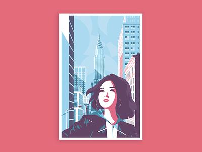 MILA characterdesign character asian girl design digitalart pop art digital illustration artwork illustrator illustration book cover book chrysler building chrysler newyork