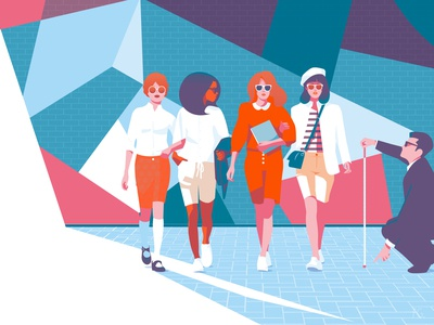 The Bermuda Shorts Affair pop art digital illustration artwork illustrator illustration conceptual women empowerment womens college barnard