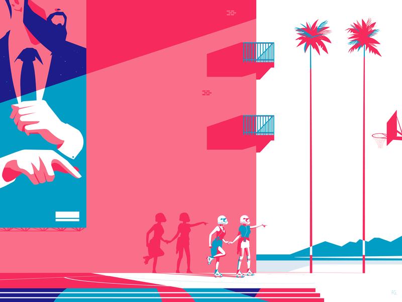 Dénoncé.e stormtrooper trooper roller vintage lgbtq lgbt vector digital illustration design couple basketball artwork adobe illustration 80s style pop art illustrator digitalart 80s
