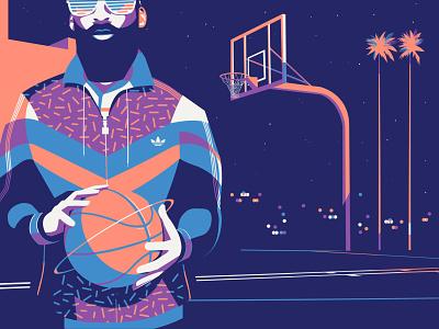 Back on ground in 90's colour drop street artwork basketball illustrator pop art illustration digitalart los angeles lakers lakers los angeles nba vintage harden adidas originals james harden 90s