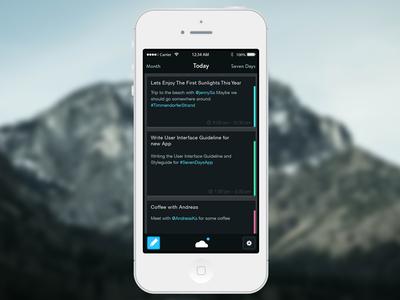 iPhone Calendar App Design
