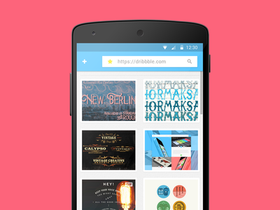 Android Browser UI
