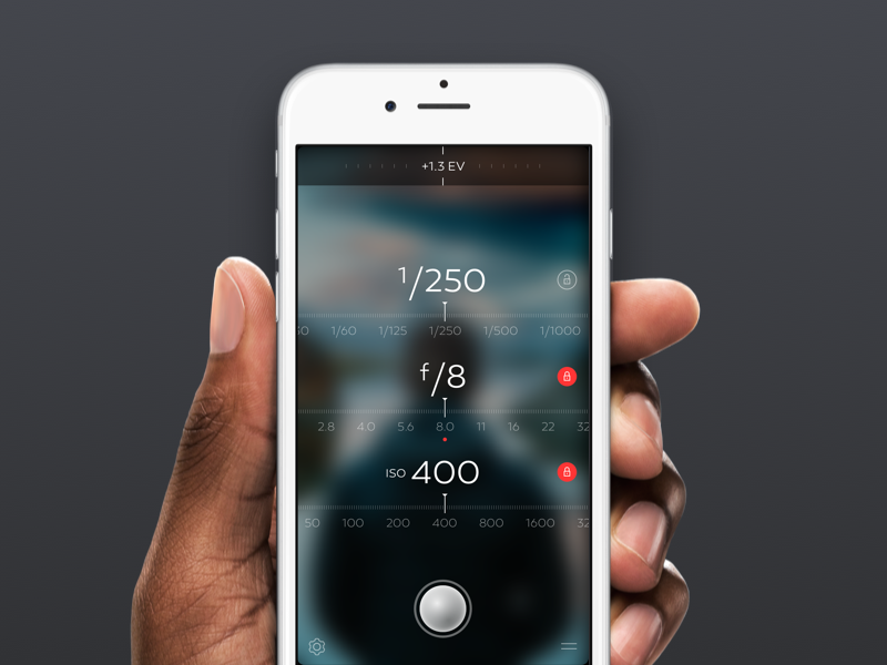 LuxDot Lightmeter photo dark photography ux ui iphone lightmeter luxdot