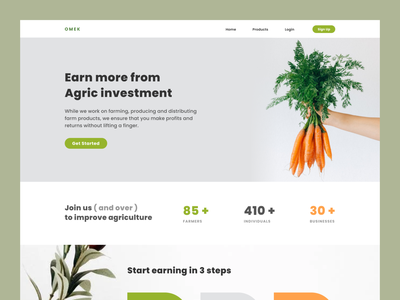 Agric Investment food investment agriculture ui minimalist