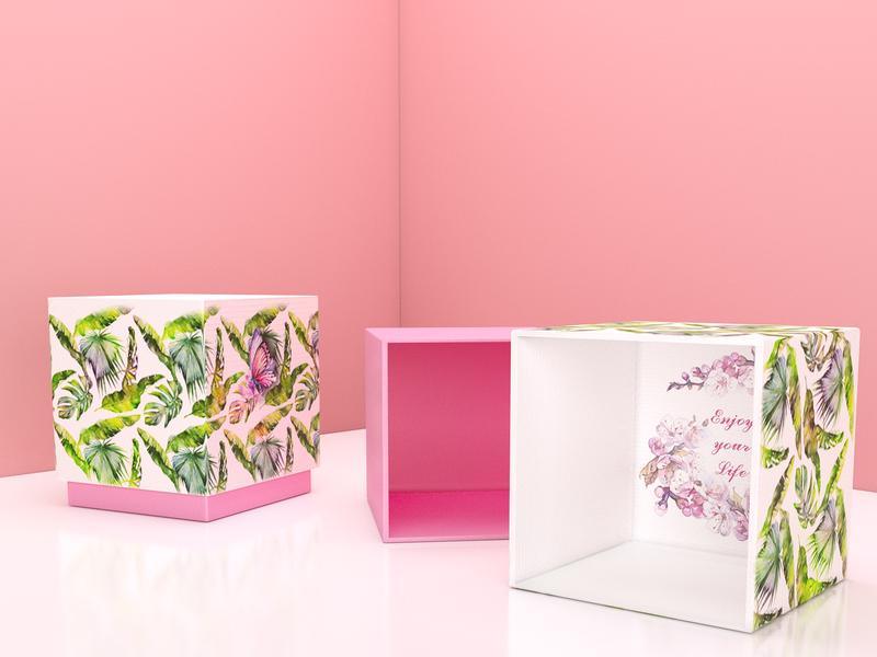 Boxes brand identity presentbox present design branding photoshop box design pink style branddesign brand box