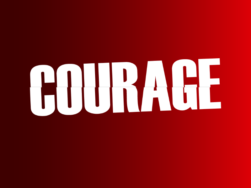 Courage adobe red design type illustrator courage