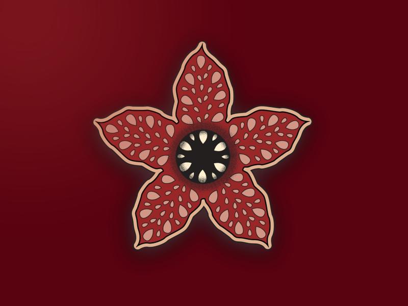 Demogorgon or flower? drawing concept adaptation show netflix flower demogorgon stranger things illustration digital art art graphic design