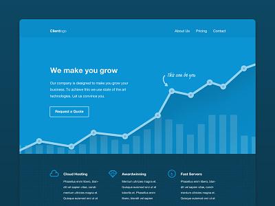 Growing Business Website webdesign flat chart diagram bar chart