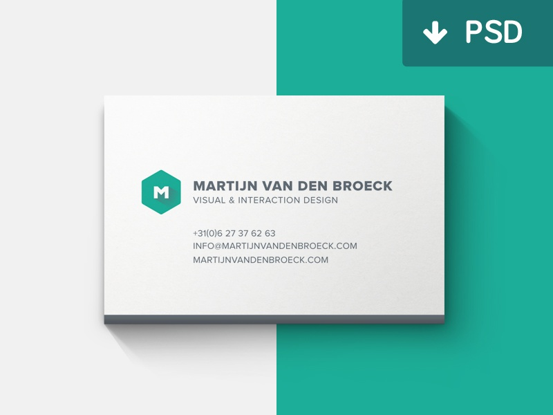 Minimal Business Cards Mockup by Martijn van den Broeck - Dribbble
