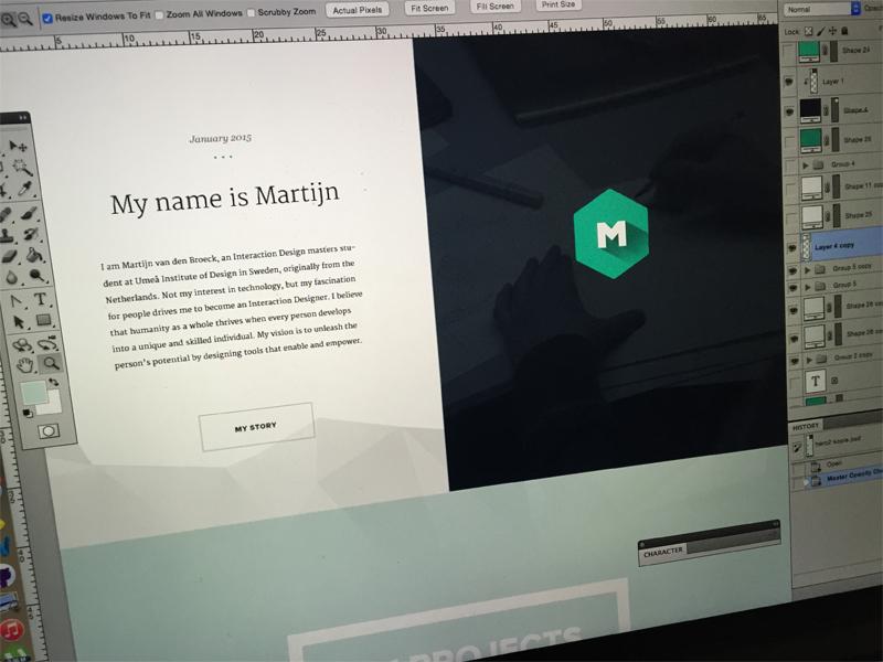 Portfolio Redesign interaction flat website webdesign