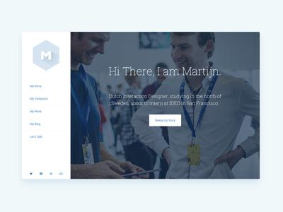 Portfolio Launch website flat design ui portfolio