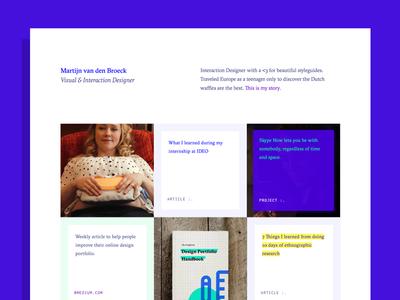 Interaction Design Portfolio Redesign grid ui ux flat minimal design portfolio