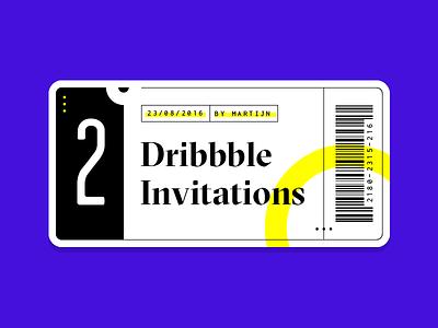 Dribbble Invitations draft graphic flat ticket invitation invite dribbble