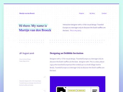 Portfolio Layout Blog Exploration exploration ux layout design portfolio