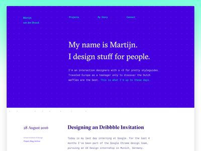 Portfolio Style Exploration blue flat graphic ux ui design interaction