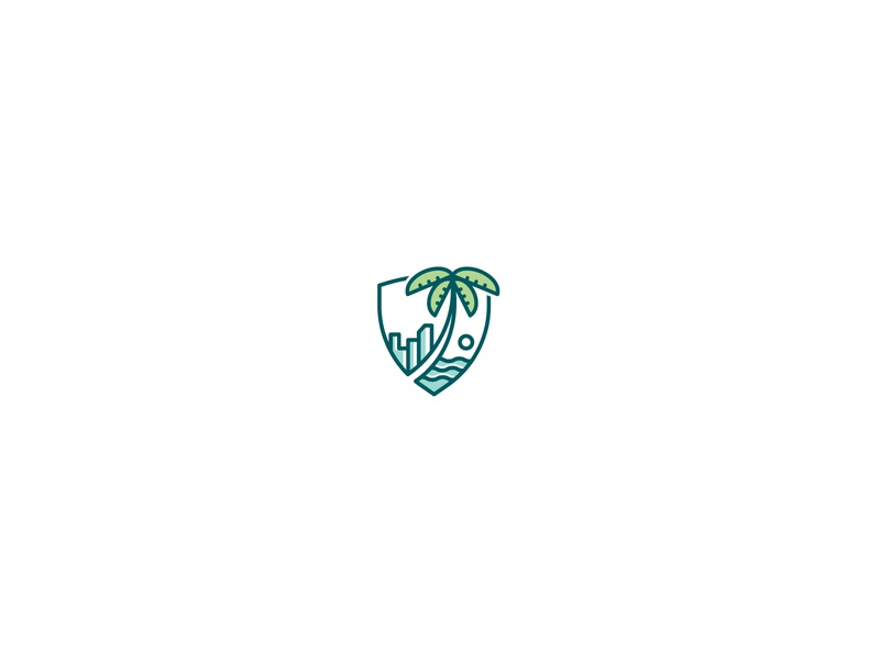 Shields logo design florida miami park nature crest shield brand identity icon mark logo