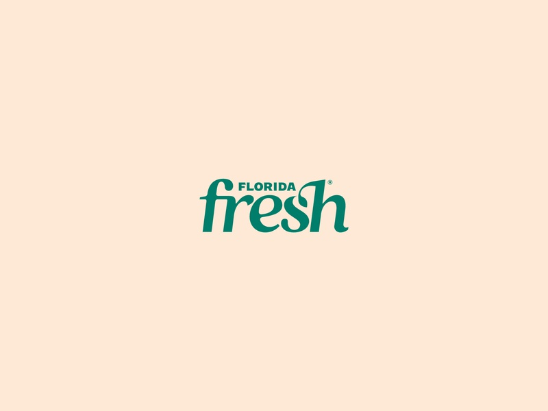 Florida Fresh typography ligature type branding green logo farming food greens florida state farms florida