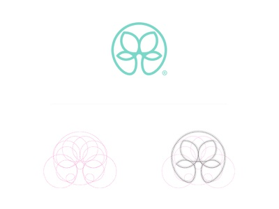 Symmetree process circles logomark icon minimal geometry shapes symmetry tree branding logo