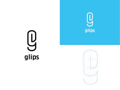 Glips Logo identity simple minimal monogram letter g branding logo