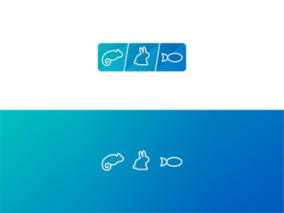 Pet Icons reptiles animals ux ui gradient branding web icons petstore pets