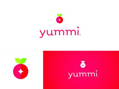 Yummi Logo typography letters type candy healthy fresh fruit sweet food branding identity logo