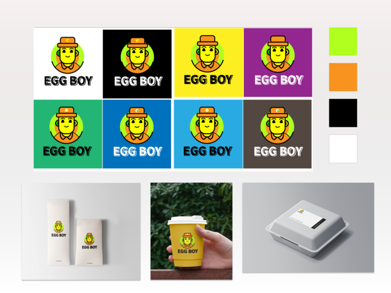 Eggboy logo design branding