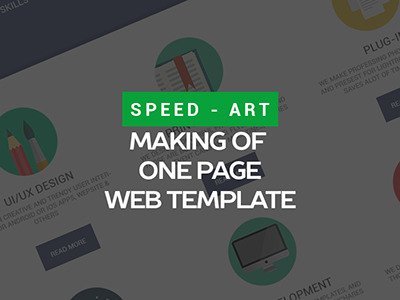 Speed Art - Making of One Page Web Template speed art web design photoshop making how one page