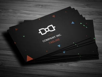 Simple Absract Business Card graphicriver photoshop psd template print business card