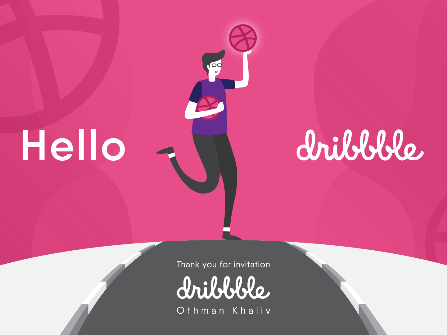 Hello Dribbble! design illustration hello hello dribble debut