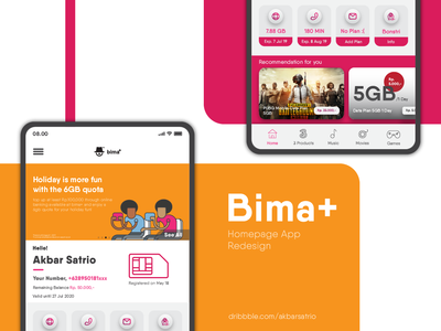 Bima+ Homepage App Redesign