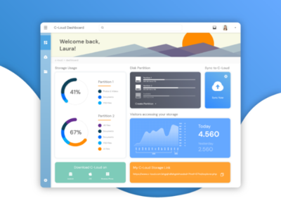 C-Loud Online Storage and File Sharing Dashboard