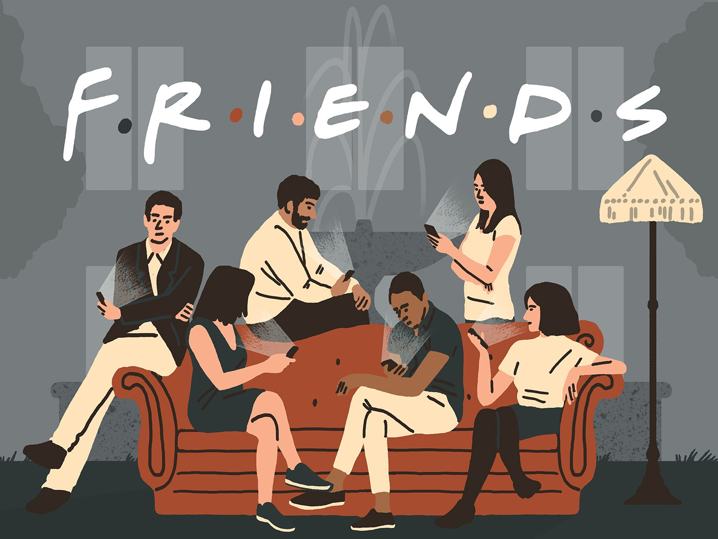 Sunday Times - Friends editorial design print editorial illustration friends illustrator illustration