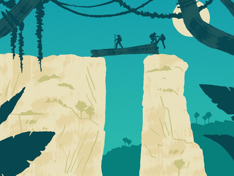 Lost World landscape drawing design print editorial illustration illustration