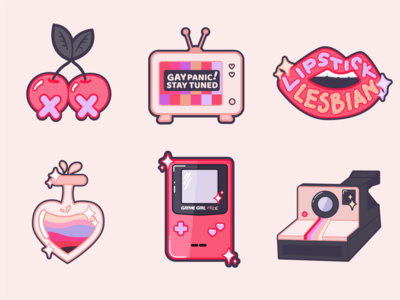 Femme stickers