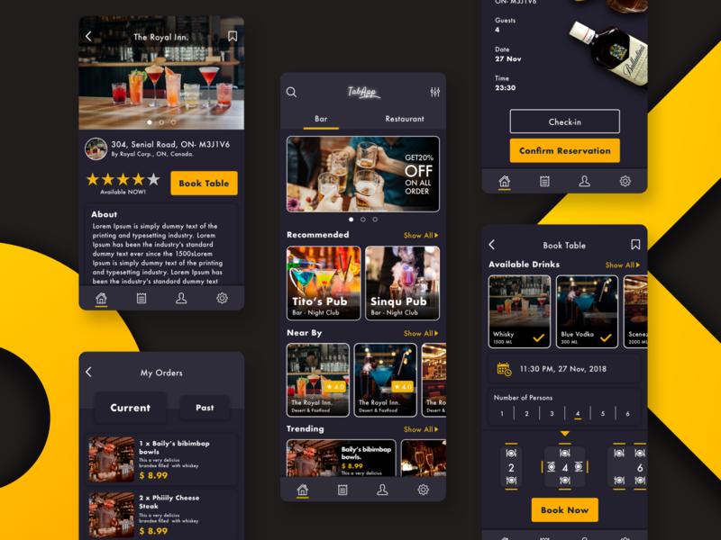 Table Booking app ux icon app logo design ui