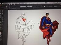 Superman Drawing. For print media & Hoardings.