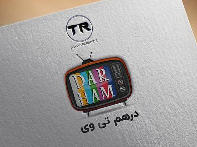 LOGO DESIGN (DARHAMTV) tv logo logo tv tv logos logo design icon ux branding logo illustration typography graphic design graphic ui design